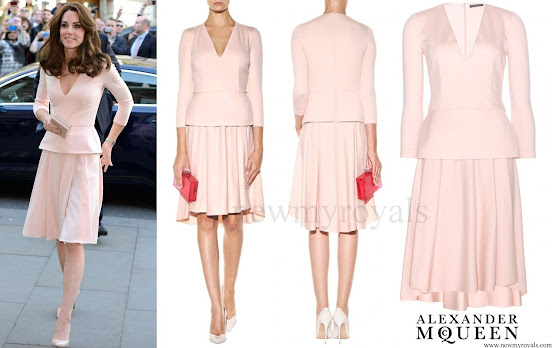Kate Middleton wore Alexander McQueen Wool and Cashmere Blend Dress