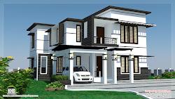 modern 2500 sq bedroom feet plans designs ft homes kerala elevation window brown architecture philippines floor exterior keralahousedesigns rumah