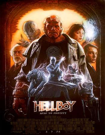 Poster Of Hellboy 2004 Dual Audio 720p BRRip [Hindi - English] ESubs Free Download Watch Online Worldfree4u