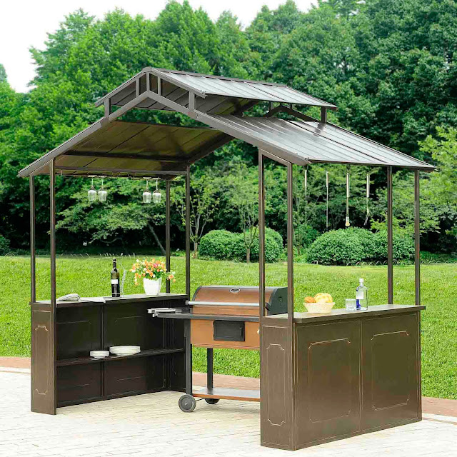 Grill Gazebo With Slate Countertop