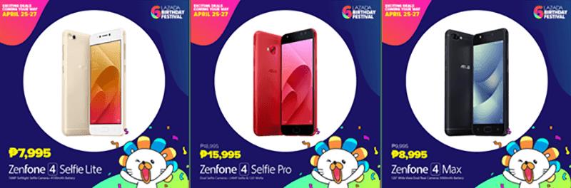 ASUS ZenFone Lazada Sale Lineup