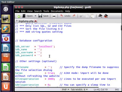 How To Install BigDump Locally Under Ubuntu To Import Large MySQL