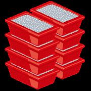ドル箱のイラスト(パチンコ玉)