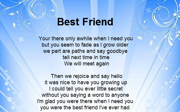 Happy Friendship Day Poems for Loved ones