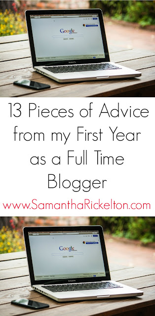 13 Pieces of Advice from my First Year as a Full Time Blogger