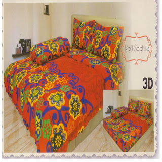 sprei 3d lady rose Red Shapire