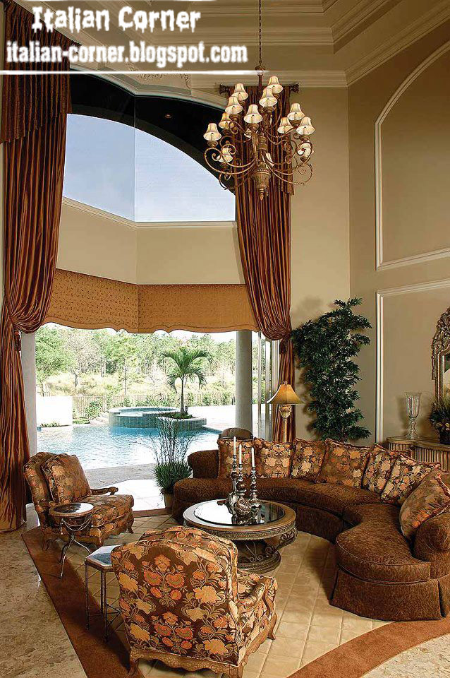 Italian Living Room Design: Italian Living Room Designs Ideas With Round Sofas