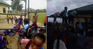 See more photos Of pupils trying to escape vaccination by soldiers in rivers state