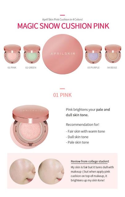 review april skin magic snow cushion pink