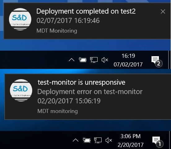MDT Monitoring: Deployment Notification scripts - Syst & Deploy