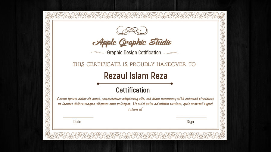 How To Design A Certificate Template Adobe Illustrator Tutorial
