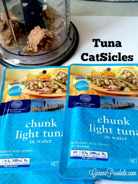 2 packages of tuna and a food processor