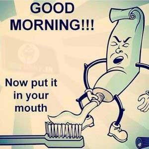 Dirty toothpaste humor