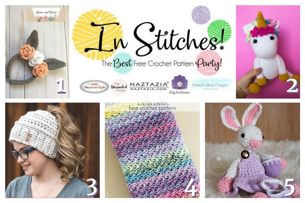In Stitches Best Free Crochet Link Up Party Week 7 Marias Blue
