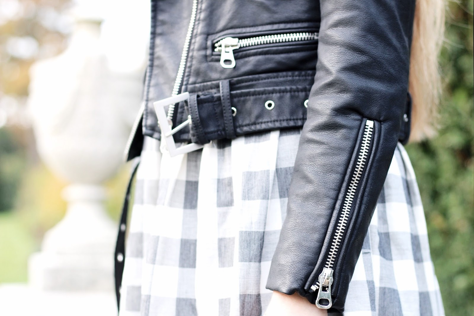 Styling a cropper leather jacket in winter
