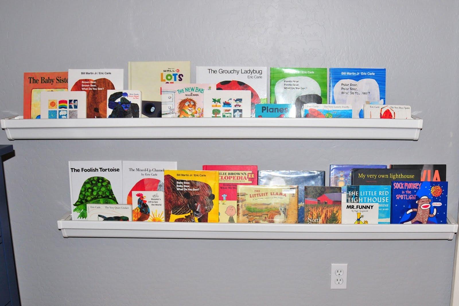 Mama Mel Loves Rain Gutter Bookshelves
