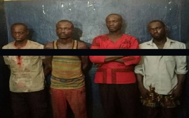 Four of the suspects in Captain Mahama's murder