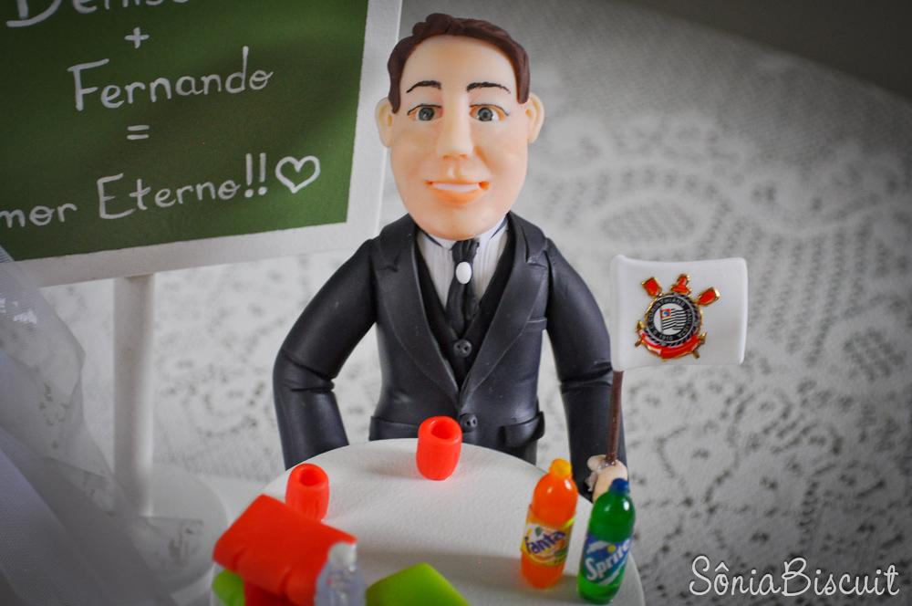 Noivinhos Biscuit Professora Corinhtiano Bar
