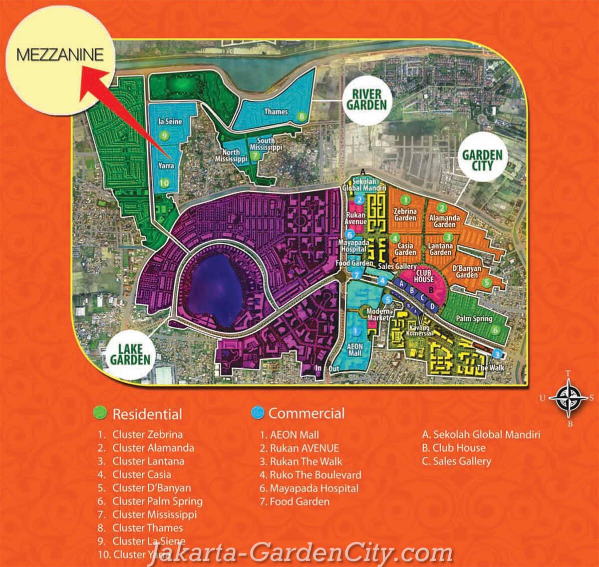 Lokasi Cluster Yarra Jakarta Garden City