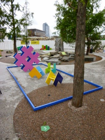 TURF Projects Putt Putt #2 Crazy Golf course at Platform Ruskin Square in Croydon