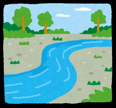 川・河原のイラスト