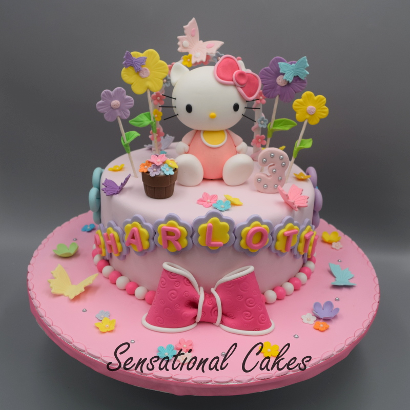 The Sensational Cakes Classic Hello Kitty Pink Cake 1 Tier