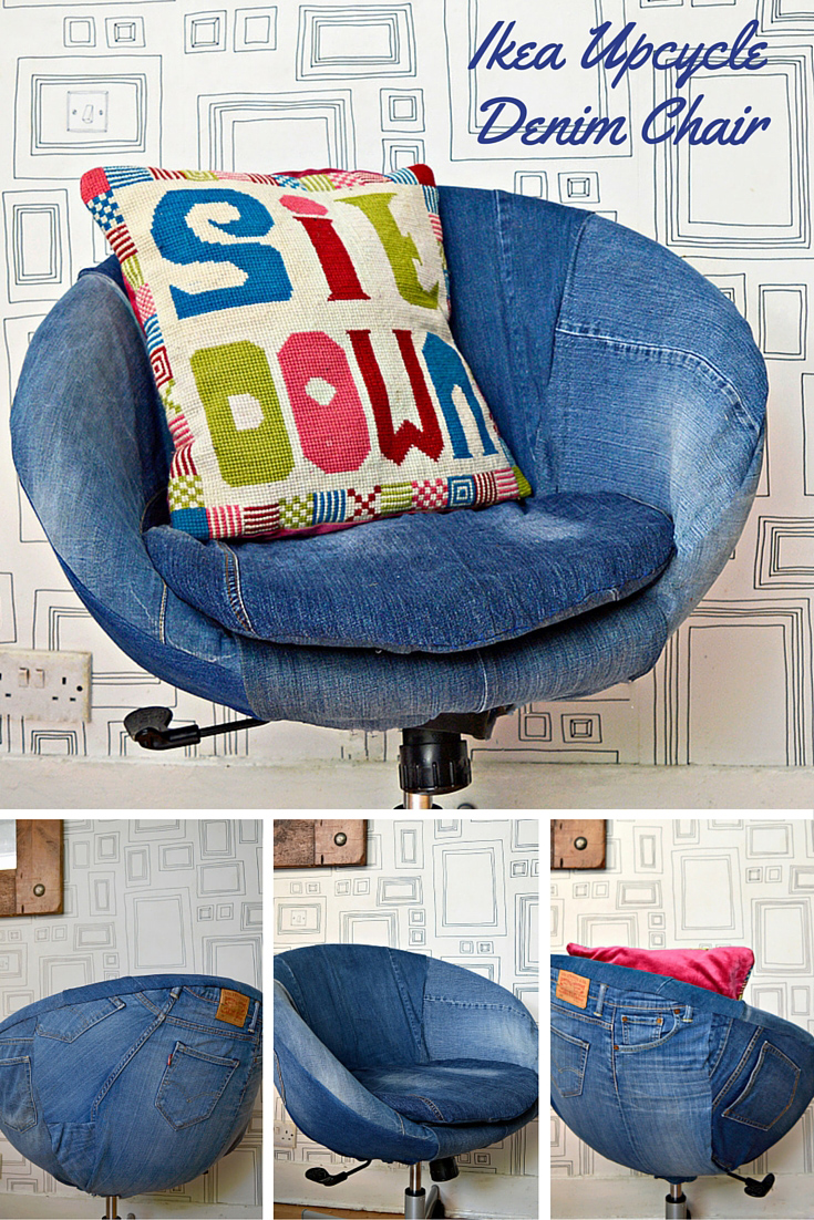 IKEA Skruvsta Denim Chair Upcycle
