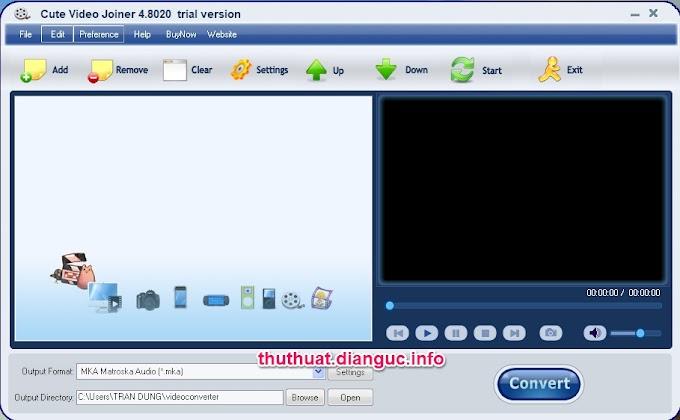 Download Cute Video Joiner 4.8020 – Phần mềm ghép Video miễn phí