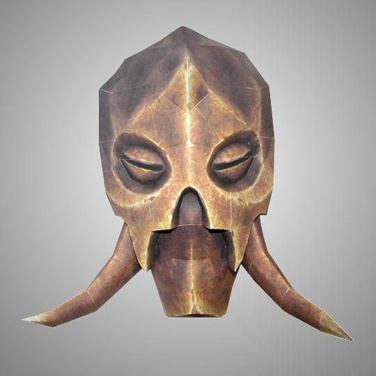 Skyrim Dragon Priest Masks Stencil