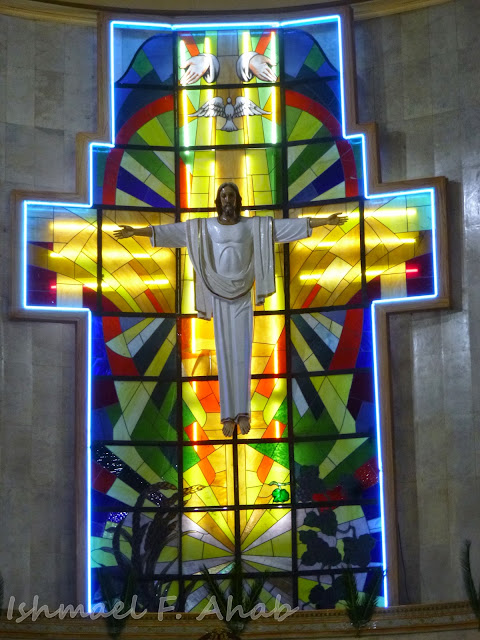 Central image of Jesus Christ in Shrine of Our Lady of Grace