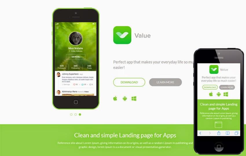 TEMPLATIUM Value Mobile App Blogger Template