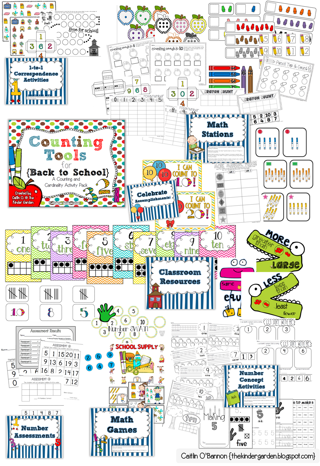 The Kinder Garden New Common Core Resource For Counting