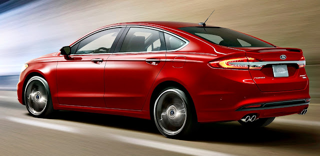 Ford Fusion 2017 back red