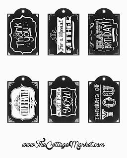 Etiquetas Estilo Pizarra para Imprimir Gratis.