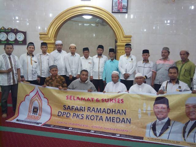 Jalin Silaturahim, PKS Kota Medan Gelar Safari Ramadhan dari Masjid ke Masjid
