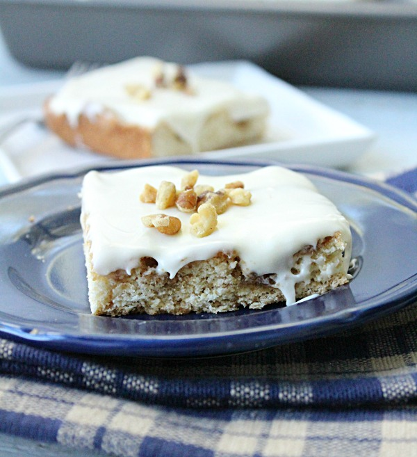 Cinnamon Roll Blondies from Table for Seven