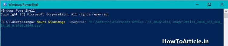 How to Mount ISO using Powershell