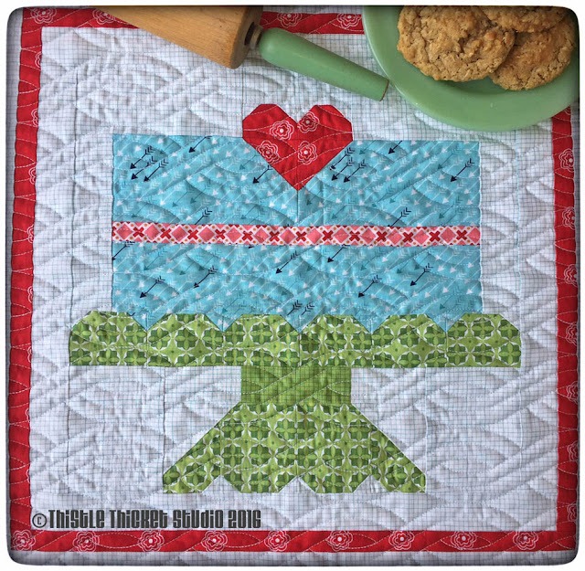 Farm Girl Vintage Layer Cake Quilt by Thistle Thicket Studio. www.thistlethicketstudio.com