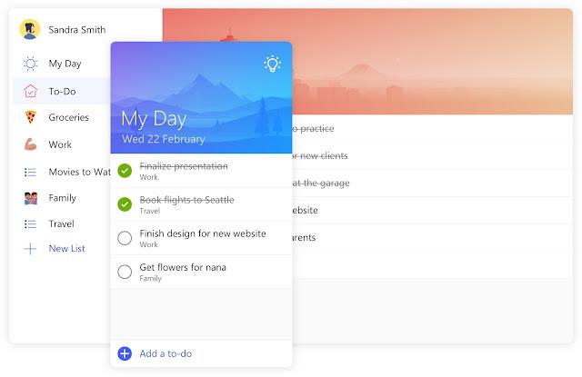 Додаток Microsoft To-Do для ведення списків та організації свого дня