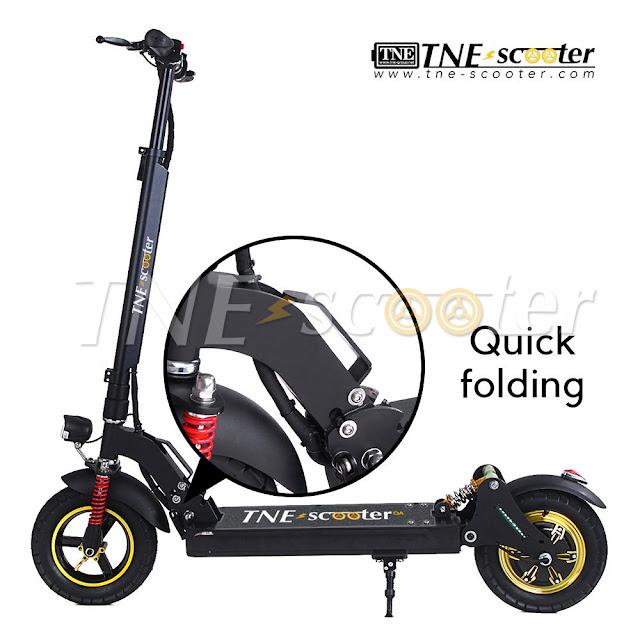 Xe đạp điện gấp xếp gọn Scooter TNE tốc độ 40 km/h quảng đường 95 km nặng chỉ 18 Kg