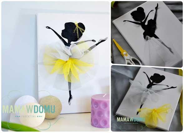 cuadros siluetas de bailarina, decoracion, manualidades