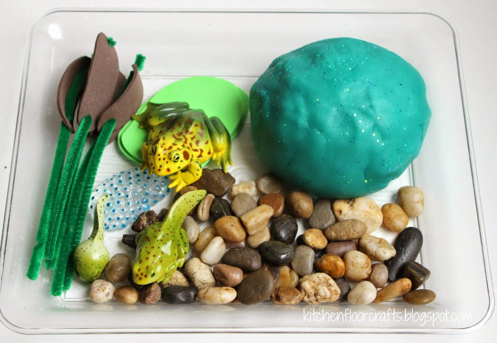 Kitchen Floor Crafts Frog Pond Playdough