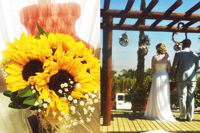 vestido de noiva simples, vestido de noiva gleikka, renda e chiffon, casamento de dia, noiva de dia, vestido simples e delicado, sofisticado, gleikka, gleika, buquê, buquê de margaridas