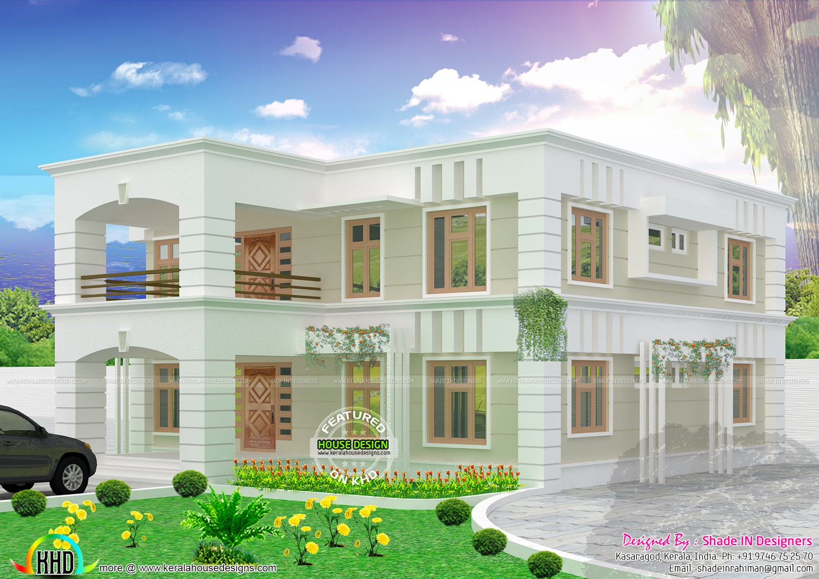 2778 Square Feet Flat Roof House Kerala Home Design And