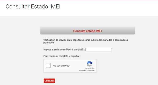 IMEI reportado como robado o perdido