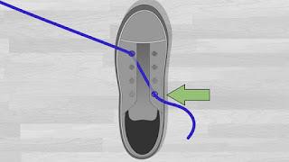 Cara Memasang Tali Sepatu Lurus ke Samping tutorial 1