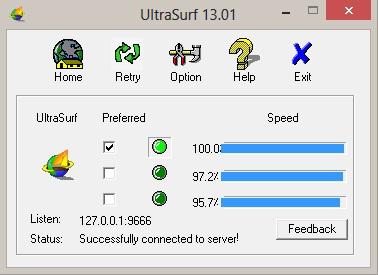 برنامج Ultrasurf لفتح المواقع المحجوبة VPN