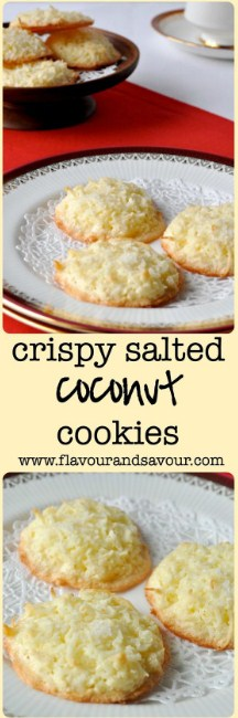 Crispy Salted Coconut Cookies Recipe