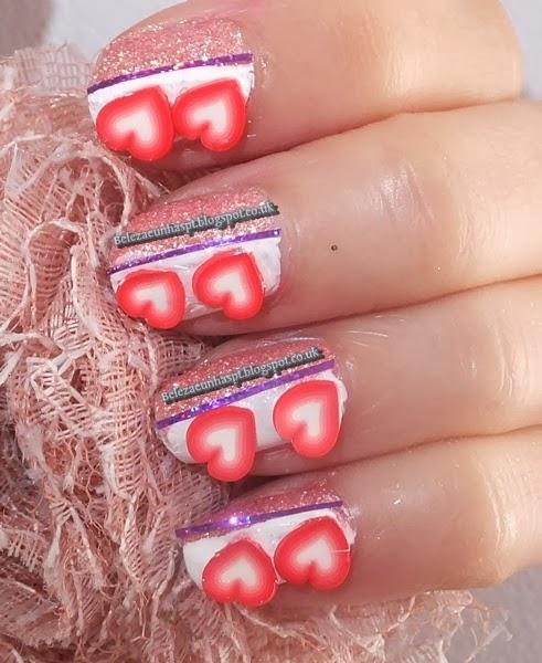manicure  Corações