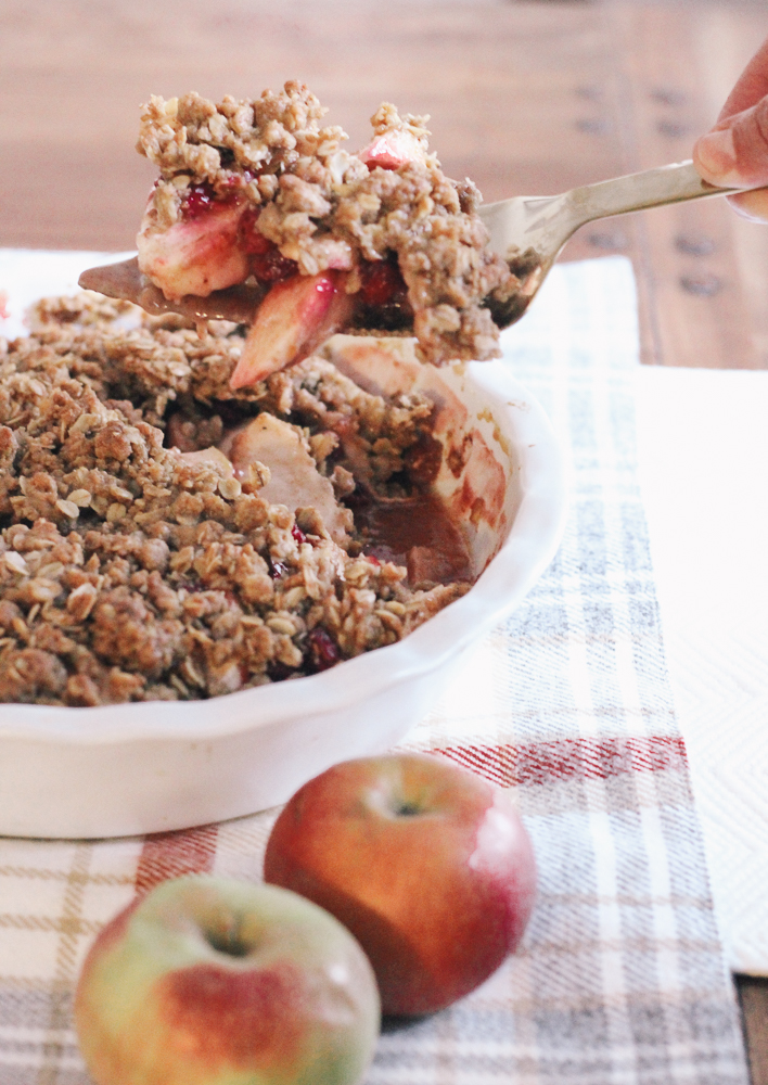 Boston Life and Style Blogger, The Northern Magnolia, is sharing a recipe for a delicious apple cranberry crisp! It is the ultimate fall and Holiday dessert!.